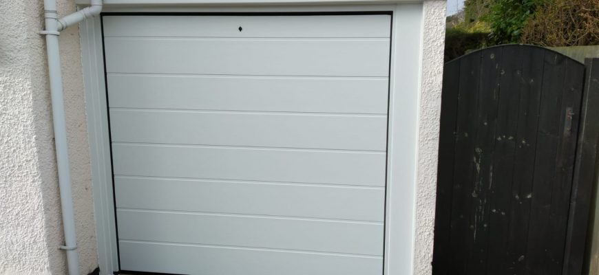 Insulated sectional garage door, wirral