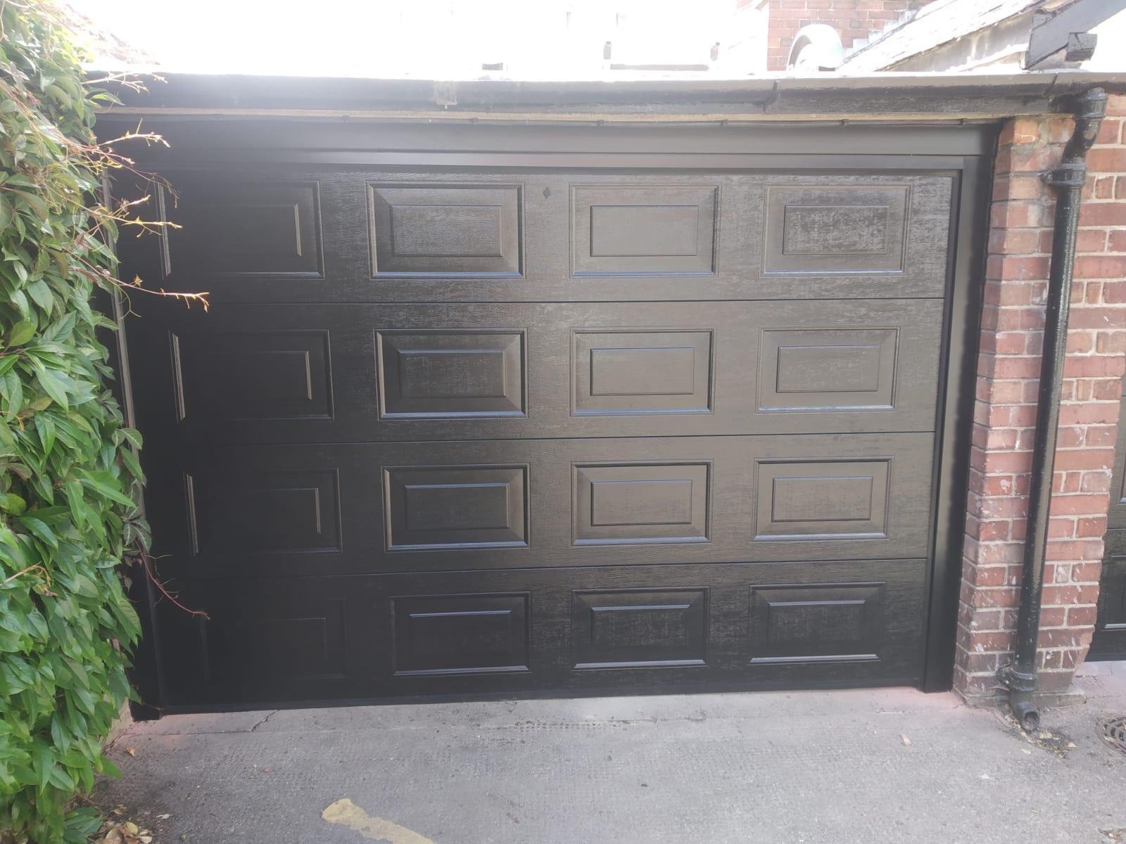 Insulated Garage Door in Black