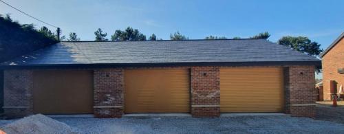 Three Insulated Roller Garage Doors