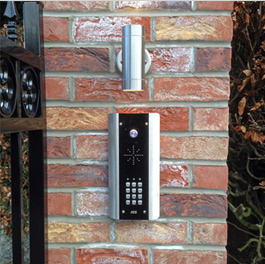 Intercom installed with gate automation system