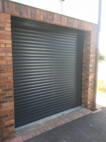 Insulated Roller Garage Door In Blacl