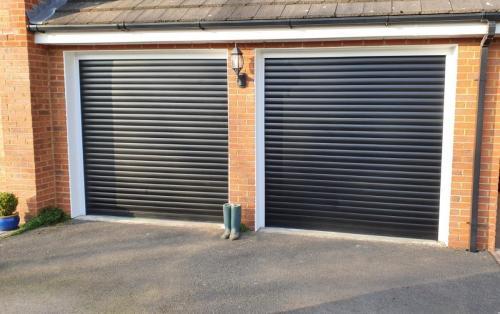 Two Insulated Roller Shutter Garage Doors