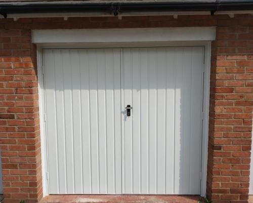 Side Hinged Single Skin Garage Door