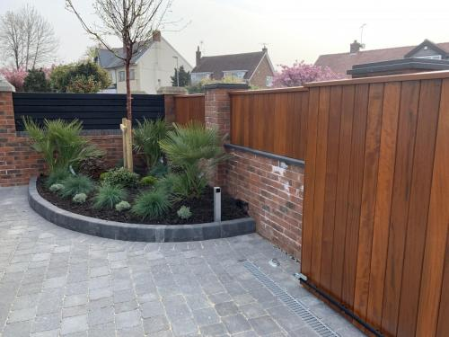 Underground sliding gate automation to existing gate