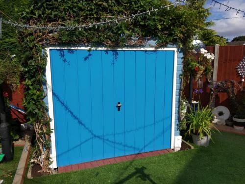 Up and Over Door in Blue